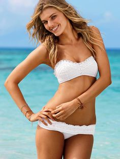 cute white VS bathing suit- have wanted this one for over a year... i think i shoud just buy it!