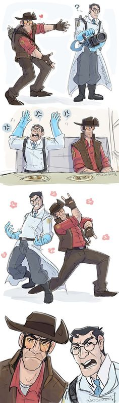 TF2- Draw your otp challenge Medic/Sniper by MadJesters1 on DeviantArt