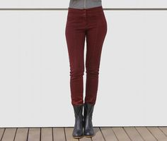 Maroon trousers for women,  high waist pants, fall fashion