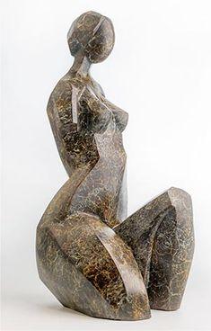 Sculpture by Romuald Wisniewski (Poland) Abstract Sculpture, Bronze Sculpture, Abstract Art, Ceramic Figures, Soapstone, Cubism, Stone Carving, Dark Fantasy, Figurative Art