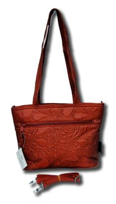 Donna Sharp Quilted Copper Paisley Quilt Jenna Handbag 12783