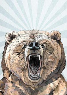 Grizzly // A3 print. £19,00, via Etsy.