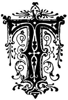 fancy letter s image | Ornamental letter