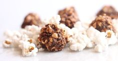 Snack Recipe: Salted Chocolate Chia Popcorn Balls #vegan #healthy #recipes #plantbased #whatveganseat #glutenfree #snack