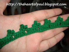Shamrock Crochet Trim Pattern