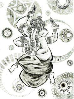 Ganesha-Kunstdruck