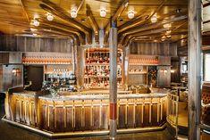 Le nouveau look de La Rotonde de La Muette : autour du bar du restaurant