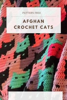 In this post, we'll talk more about it and you can learn how to make a beautiful pattern Afghan Crochet Cats. Crochet Afghans, C2c Crochet, Crochet Blocks, Baby Blanket Crochet, Free Crochet, Crocheted Blankets, Crochet Cats, Crochet Cat Pattern, Crochet Stitches Patterns