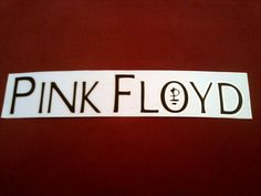 "Pink Floyd 10""x2"" Window STICKER DECAL deadstock new old stock"
