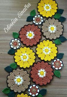 Crochet Mandala Pattern, Crochet Doilies, Crochet Patterns, Crochet Table Mat, Birthday Wishes For Son, Crochet Carpet, Flower Pillow, Tablerunners, Yarn Crafts