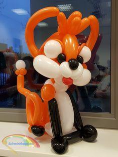 Balloon fox (learned from Darren Mortiboy) Schminkkoppies Marielle Heuft