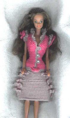 Barbie dress crochet