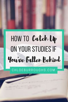 Fallen behind at university or college? Learn how to catch up with your studies here. Study skills | essay | exam