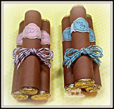 DIY Rolo Cigars Baby Shower Favors