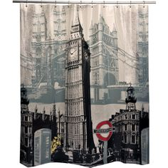 Product: London - England - Vinyl Shower Curtain Comforter Bedspreads Sheets Be