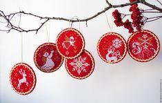 Купить Новогодние подвески Комплект из 6 штук - новогодний подарок, новогодний сувенир, новогодний декор