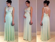 2017 Custom Made Green Chiffon Lace Prom Dress, See Through Evening Dress,Sleeveless Sexy Dress,Floor Length Party Dress,High Quality Plus Size Prom Dresses, Formal Dresses, Wedding Dresses, Party Dresses, Maternity Gowns, Women's Evening Dresses, Ideias Fashion, Bridesmaid, Outfits