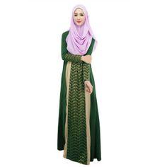 abaya feminina em croche e tecido