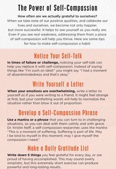 """The power of Self compassion."" Routines, ideas, activities and worksheets to support your self-care. Tools that work well with motivation and inspirational quotes. For more great inspiration follow us at 1StrongWoman."