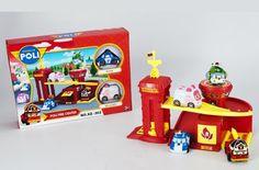Parking track town #Fire center police department 2 pcs korean robocar poli car toys figures. http://goo.gl/l7PNke