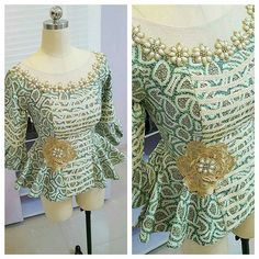 Another version of our pretty kathyanthony peplum blouse..#ankarafashion…