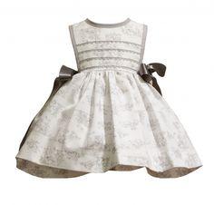 Abella Toile Print Pinafore Dress and Top 5081