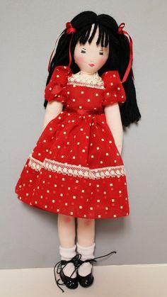 RUBY  Rag Doll Cloth Doll Soft Toy Doll OOAK Doll by dollways2