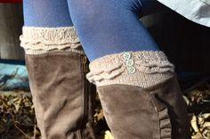 Very Very Sweet - Must make these for fall!  Boot cuffs, ruffles, leg warmers, boot socks, knitting pattern PDF