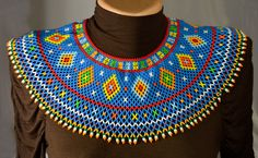 Ukrainian Folk Beaded NECKLACE Gerdan Bead Necklace Jewelry Traditional
