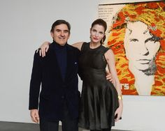 """Peter Brant and Stephanie Seymour, Nate Lowman Exhibit """"I Wanted To Be An Artist but all I Got Was This Lousy Career"""" Noember 11th 2012 at The Brant Foundation"""