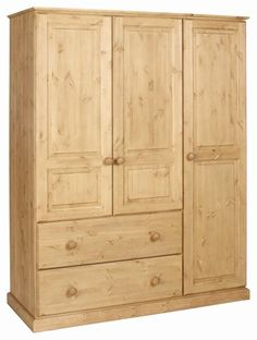 Solent 2 Drawer Deep Triple Wardrobe  Antique Wax