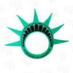 Freiheitsstatue Schaumstoff Krone #Freiheitsstatue #Liberty #Schaumstoffkrone