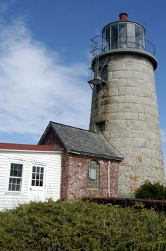Monhegan Historical and Cultural Museum and old Lighthouse in Maine.