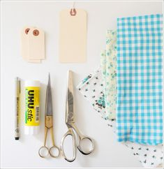 DIY: Pretty Fabric Scrap Gift Tags | Creature Comforts