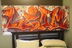 """Liam"" - Kids Bedroom Name Canvas (2010mm x 770mm) Nov 2013"