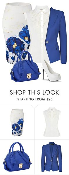 """""""Sorry"""" by grateful-angel ❤ liked on Polyvore featuring WithChic, Karen Millen and Balmain"""