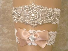 Wedding Garter, Wedding Garter Set, Bridal Garter, Pearl and Rhinestone Garter and Toss Garter, Lace Wedding Garter, 27 Satin Ribbon Colors by PrettyCountryBridal on Etsy https://www.etsy.com/listing/262358385/wedding-garter-wedding-garter-set-bridal