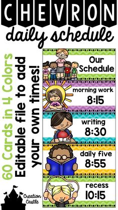 Organize your daily schedule with these tonal chevron cards that will brighten your classroom! I suggest laminating the cards and placing magnetic tape on the back to adhere to your whiteboard. This allows for easy manipulation when your schedule changes. Classroom Whiteboard, Classroom Labels, Classroom Organisation, Teacher Organization, Classroom Posters, Teacher Tools, Classroom Themes, Classroom Management, Teacher Resources