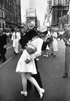 Story behind this picture- world war 2 had just ended and this happy soldier went around kissing nurses!