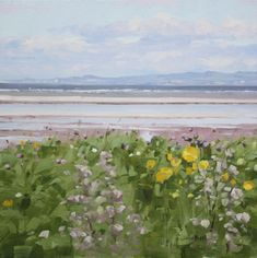 Wild Flowers at Barassie Shore contemporary Scottish Paintings. View all John BELL art and Scottish artwork at Red Rag art gallery. Bell Art, Glasgow School Of Art, Contemporary Paintings, Landscape Paintings, Wild Flowers, Scotland, Art Gallery, Waves, Prints