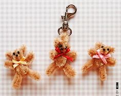 Teddy Bear - 50  Pipe Cleaner Animals for Kids, http://hative.com/pipe-cleaner-animals-for-kids/,