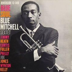 "Blue Mitchell: Blue Soul Label: Riverside 12-309 12"" LP 1959 Design: Paul Bacon Photo: Lawrence Shustak"