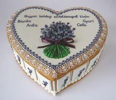 mézeskalács doboz születésnapi ajándék