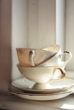 Cups and saucers by Machteld M, via Flickr