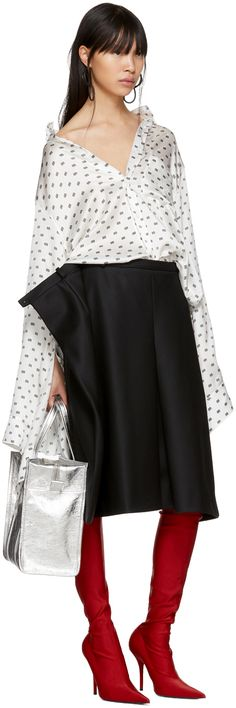 Balenciaga - White All Over 'BB' Knotted Cuff Shirt
