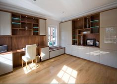 Fitted Studies / Home Offices - Bespoke Furniture by Hyperion of Weybridge & Leatherhead Surrey