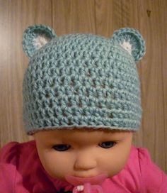 3638aa91bfb Mamma That Makes  Little Blue Bear - Newborn - Free crochet Pattern Preemie  Crochet