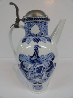 Meissen Tankard German Porcelain Beer Stein 1710 – 1910 RARE Hand Painted | eBay