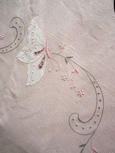 Vintage Round Pink Linen Tablecloth by JewelsOfHighElegance, $25.00