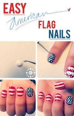 "DIY For the Day ""Easy American Flag Nails..."" #teelieturner #DIY #teelieturnershoppingnetwork  www.teelieturner.com"
